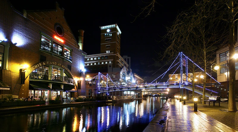 Canals at Brindleyplace, Birmingham