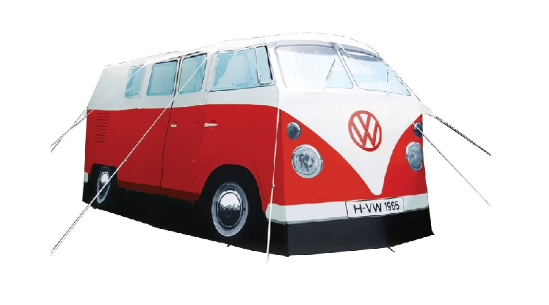 red-vw-camping-van-tent